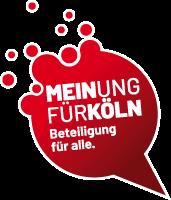 """Bild: Bubble mit Text """"Meinung für Köln. Beteiligung für alle."""""""