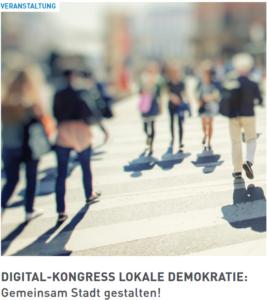 Titelbild Veranstaltung: Digital-Kongress Lokale Demokratie: Gemeinsam Stadt gestalten!