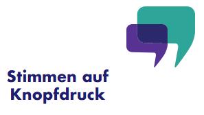Logo Stimmen auf Knopfdruck